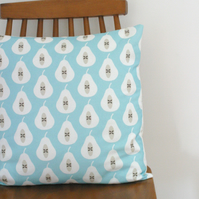 Pear Print cushion cover Pale Turquoise