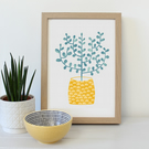 Potted Tree A4 Art Print