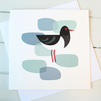 Oystercatcher Blank Greetings Card