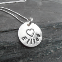 Personalised silver jewellery