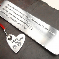 Personalised metal bookmark
