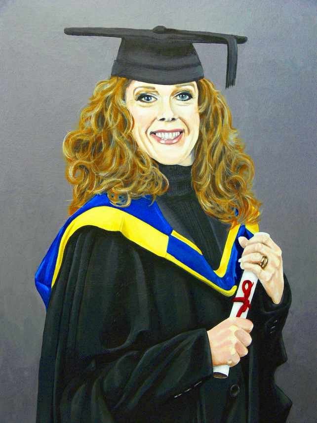 22 X 18 Custom Portrait from your photo in Gouache.