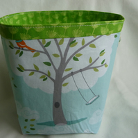 'Windy Day' fabric storage pot