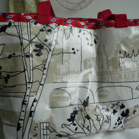 London skyline oilcloth shopper