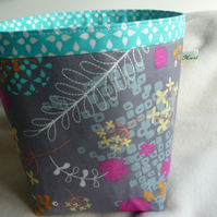 Washi fabric storage pot