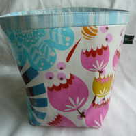 Laminated cotton fabric storage pot