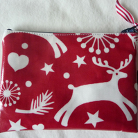 Christmas oilcloth coin purse