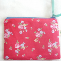 rosy sprig coin purse