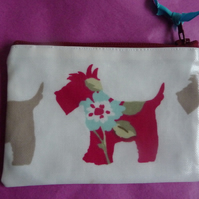 Scottie dog oilcloth coin purse SALE