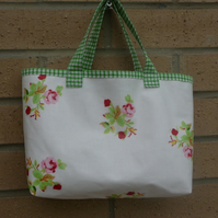 small, floral, oilcloth shopper - child's