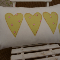 white velvet heart cushion