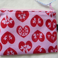 pink flower fairies coin purse