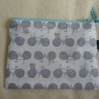 grey bicycle coin purse