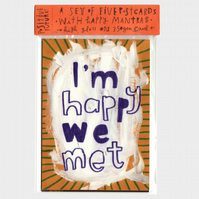 Set of 5 Happy Message Postcards