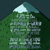 If you were a River in the Mountains tall print Juno Barry Louis Polisar Lyrics