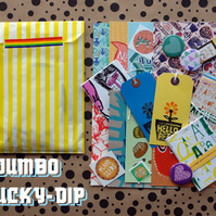 Jumbo Lucky Dip Bag- illustration cards postcards stickers fun! goodie surprise