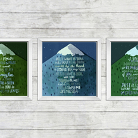 JUNO lyrics All I Want Is You trio triptych art prints Juno Barry Louis Polisar