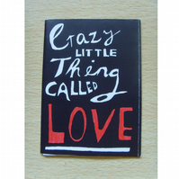 Crazy Little Thing Called Love Mini Story Book Zine - Anniversary Valentines Day