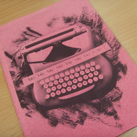 Typewriter Zine - Pink & Brown Edition