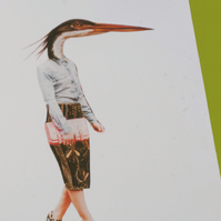 Heron Fashion Collage Print (A5 Colour)