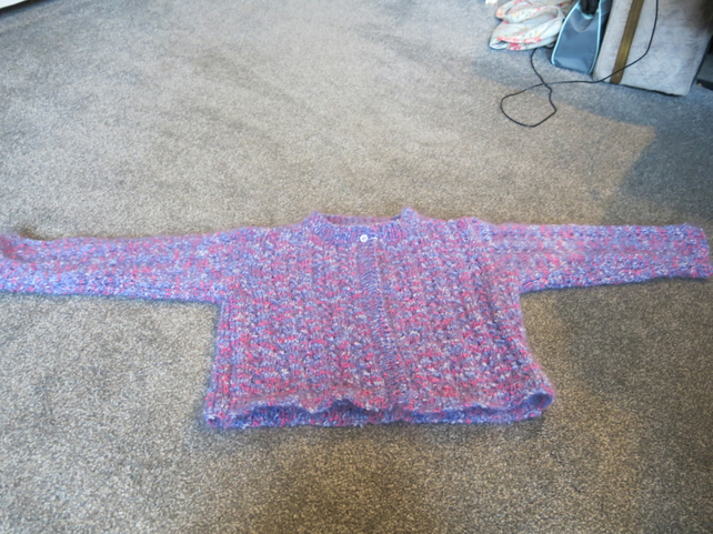 Hand knit Mohair Cardigan