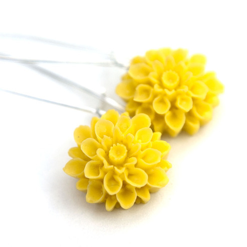 Happiness Earrings- sunshine yellow