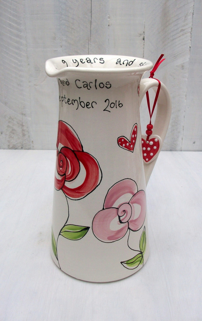 Personalised Love Jug for Weddings and Anniversaries