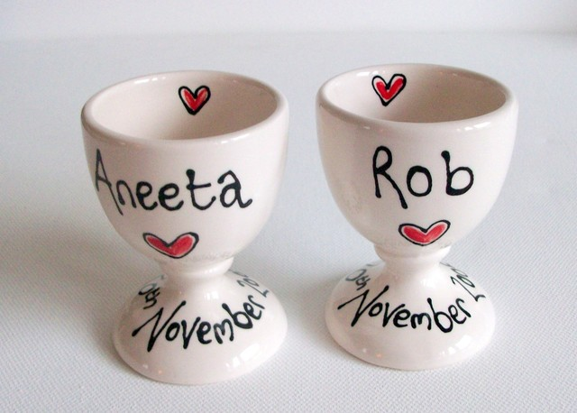Personalised Couple Egg Cups