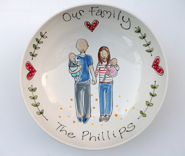 Family Portrait Serving Bowl