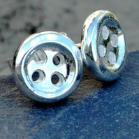 Sterling Silver Small Button Studs