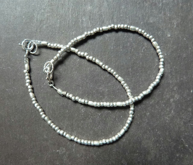Stacking bracelet with Hill Tribe silver beads