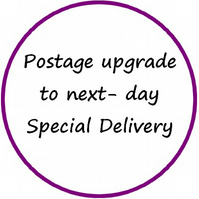 Upgrade your postage to next-day Special Delivery within the UK