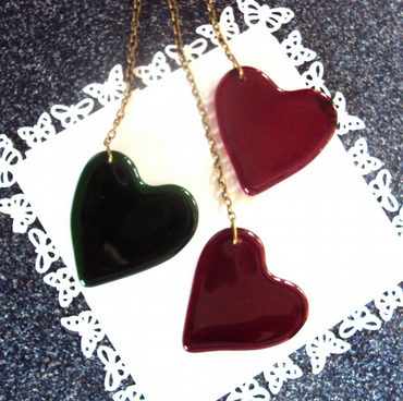 Hanging heart trio