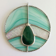 Glass and agate suncatcher 0324