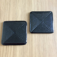 Irridised black coasters  no.1  ( 0339)