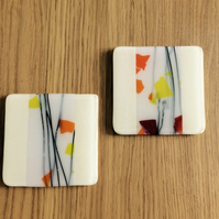 Pale cream coasters  0326