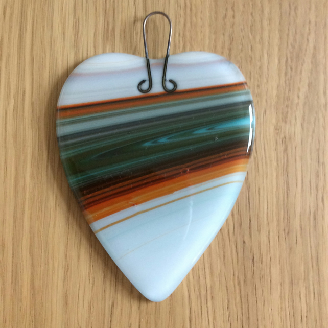 Striped heart decoration (0411)