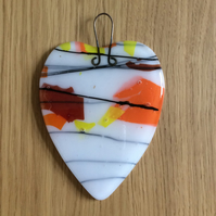 Decorated heart hanging (0412)