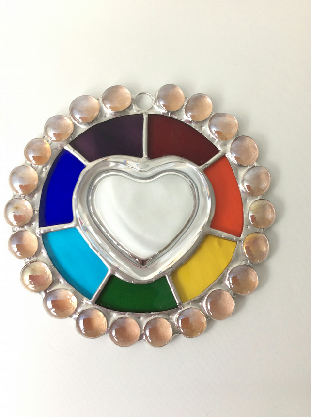 Rainbow edged heart  (0502)