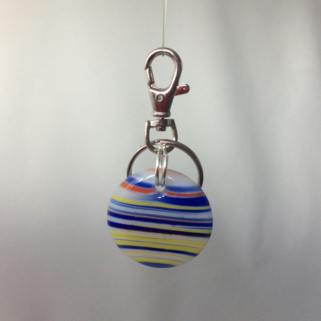 Fused glass keyring  (0501)