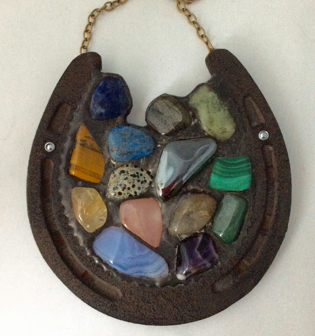 A horse shoe full of gemstones  (0520)