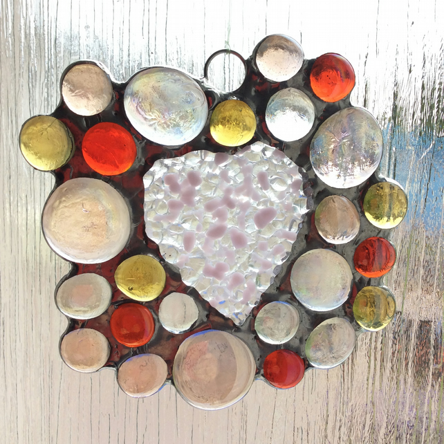Abstract heart suncatcher