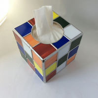 Cubed tissue box cover  (0536)