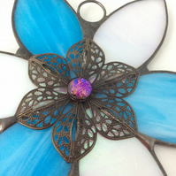 Decorated flower suncatcher  (0554)