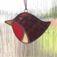 Cheery robin suncatcher (0564)