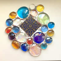 Brightly coloured nugget suncatcher  (0543)