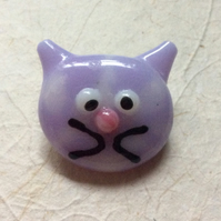 Fused glass cat brooch 1  (0530)