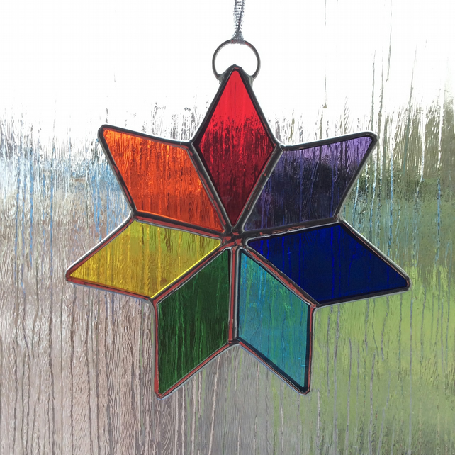 Stained glass Chakra Star  (0550)