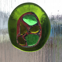 Recycled glass suncatcher  (0561)