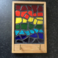 Stained glass key rack